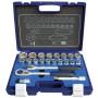 Steckschlüsselsatz 1/2 6kt. EVA 10-32mm 23 Teile.