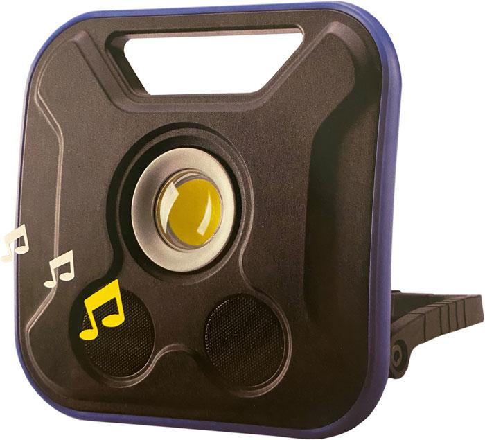 'BATO Arbejdslampe 20W med 5W Bluetooth højtaler. 500/1000/2000 Lumen. Opladelig.'